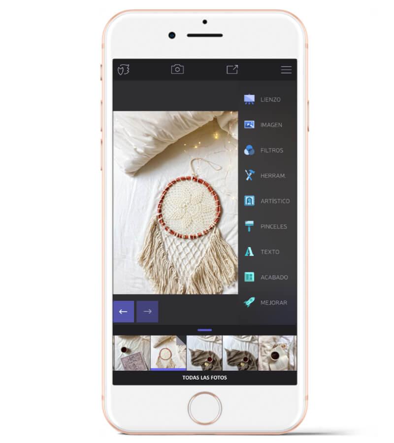 Enlight está solo disponible para iOS, pero es una app de edición muy potente, y con herramientas para hacer foto montajes.