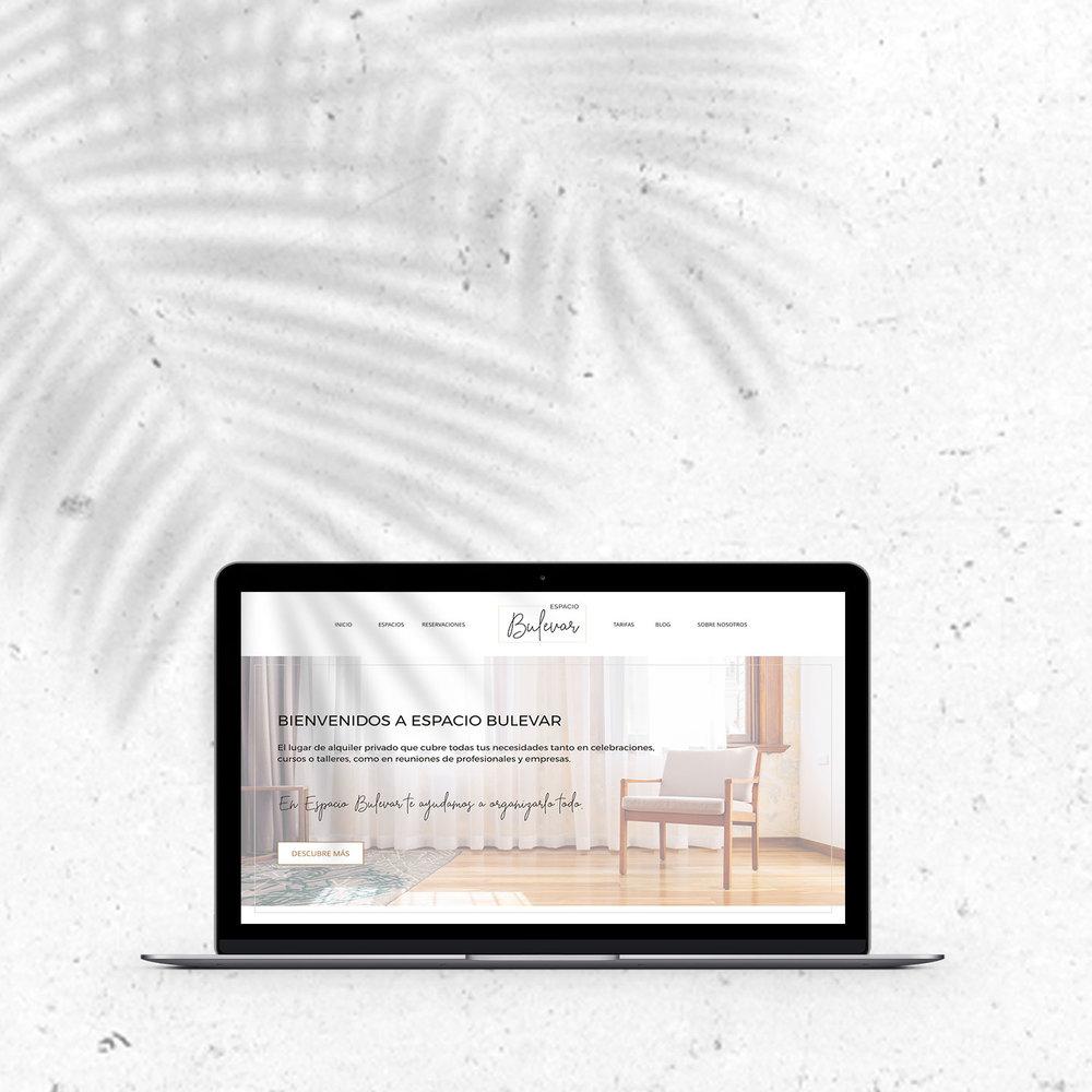 Diseño de identidad y diseño web en Squarespace para Espacio Bulevar.
