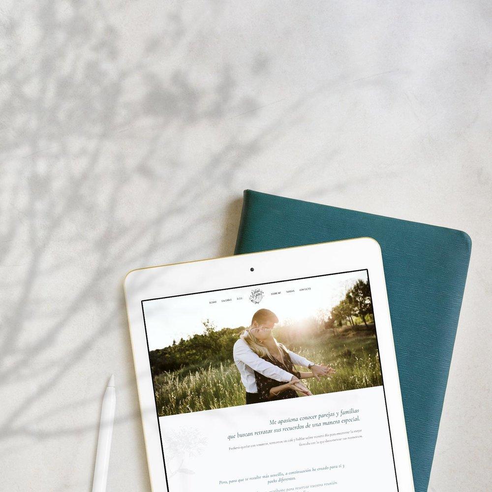 Branding y diseño web para Dani Arjones, fotógrafo de bodas.