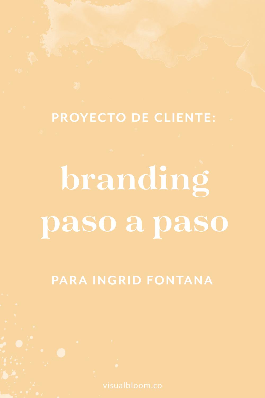 En este post te desvelo el proceso de diseño detrás del diseño de identidad corporativa para Ingrid Fontana. #DiseñoIdentidad #branding #emprendimiento #blogger #negociosonline #logo #MarcaPersonal