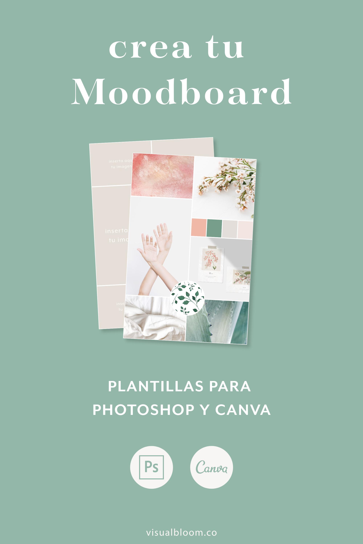 Un Moodboard te va a dar el mejor punto de partida para crear los cimientos de tu branding visual. #Moodboard #Branding #Canva