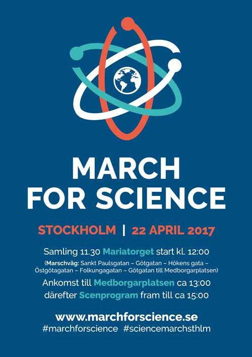 Här kan ni ladda ner högupplöst poster för March for Science Stockholm i pdf-format.