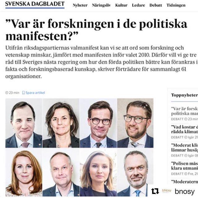 #hurvetdudet? #forskning #vetenskap #keepmarching @svenskadagbladet #val2018 https://www.svd.se/var-ar-forskningen-i-de-politiska-manifesten