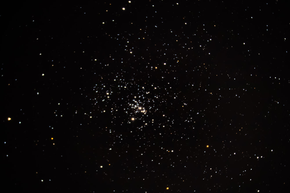NGC 869, an open star cluster in Perseus. Imaged with focal length reducer on Celestrion 8SE.
