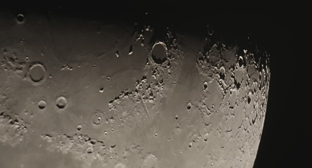 Mare Imbrium through the Barlow lens of my Celestron 8SE. The prominent crater Plato can be seen top center.