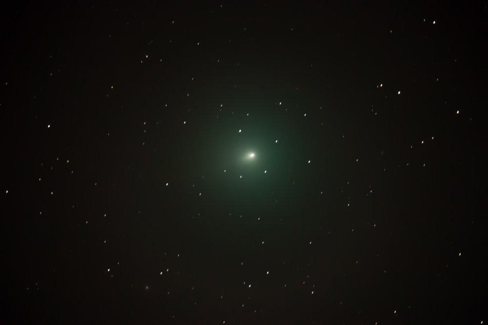 Comet 46P/Wirtanen on December 8, 2018. Single exposure through my Celestron 8SE.