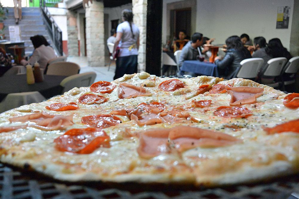 Pizza in Guanjuato, Mexico