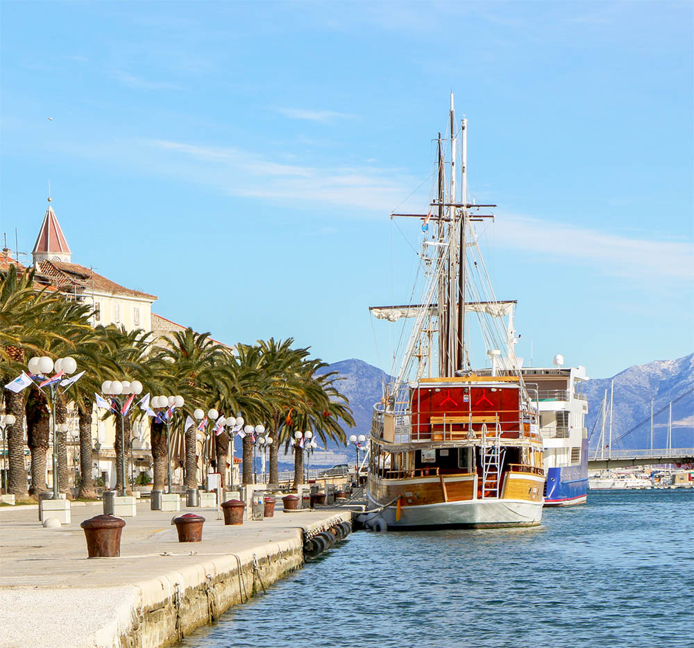 Winter in Trogir, Croatia - Riva