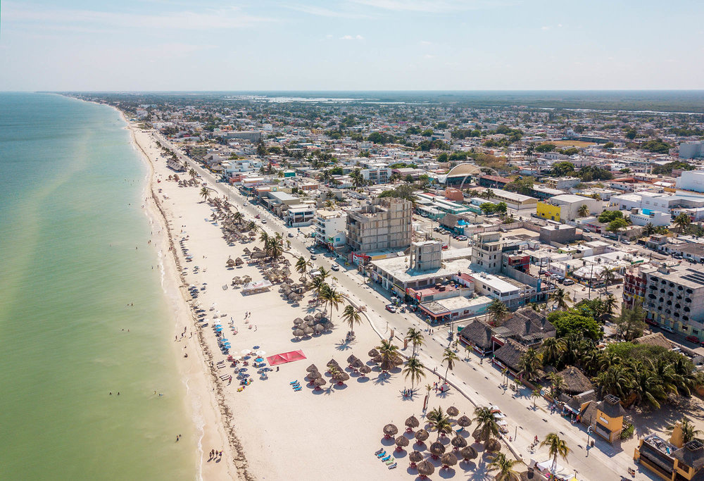 Day trips from Merida to Progreso Yucatan Mexico