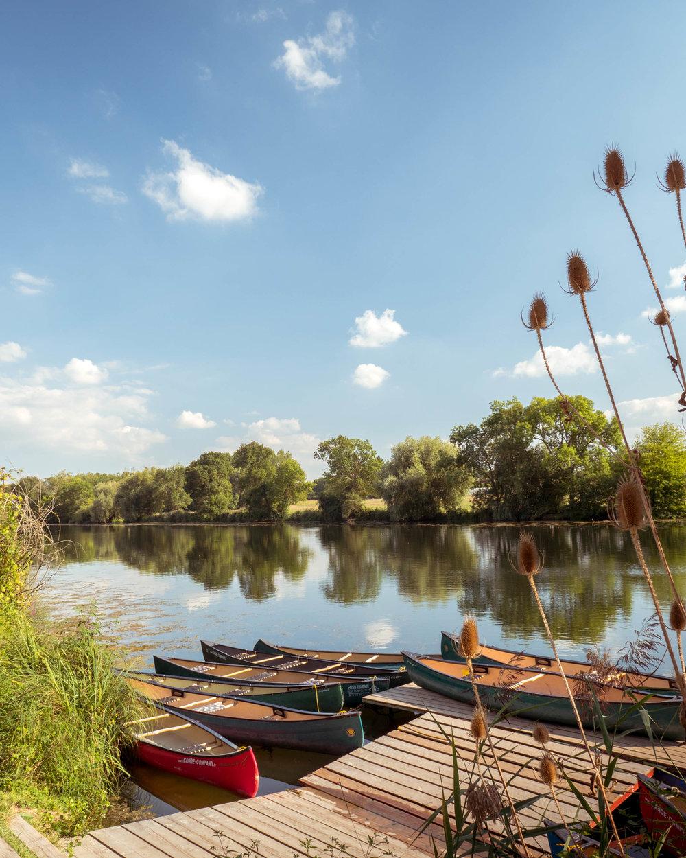 Loire Valley France, Canoe Ride
