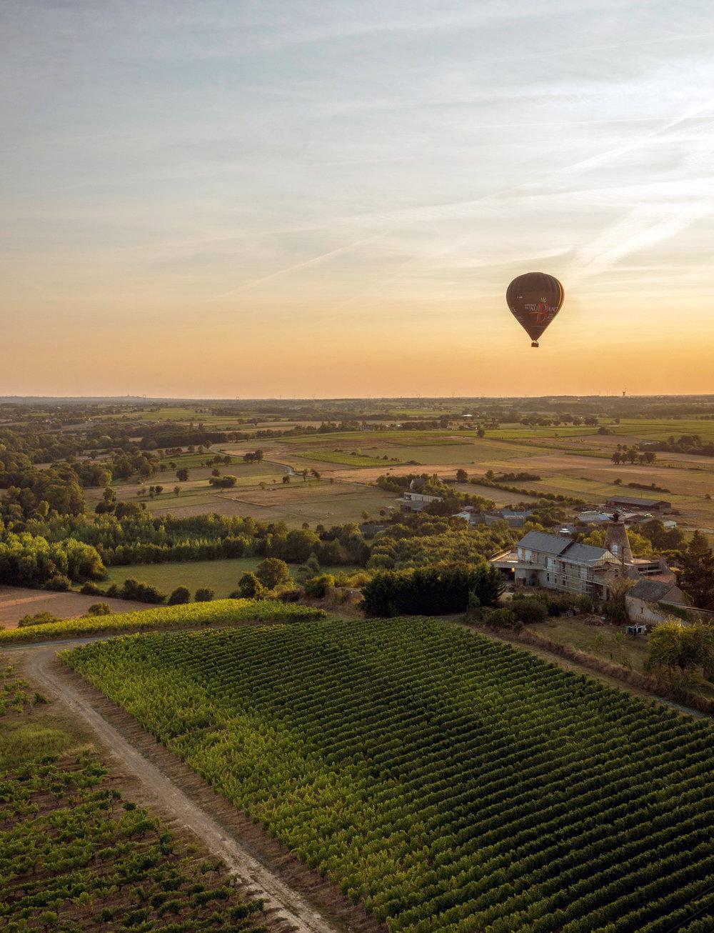 Loire Valley France, Hot Air Balloon Ride