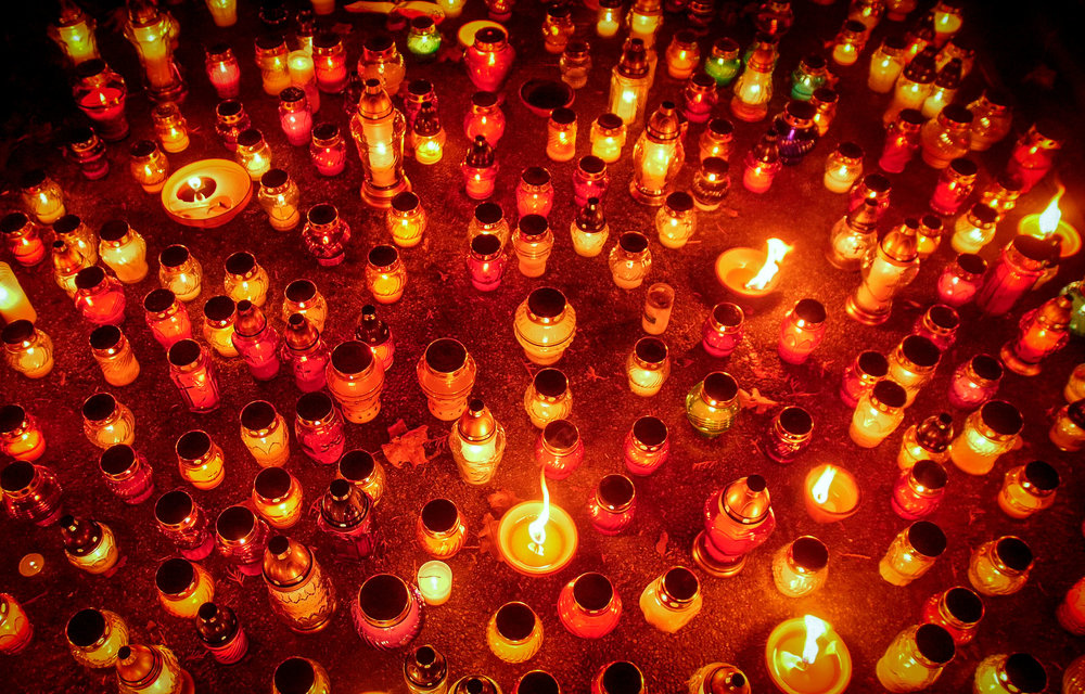 All Saints Day in Poland - Powazki Cemetery