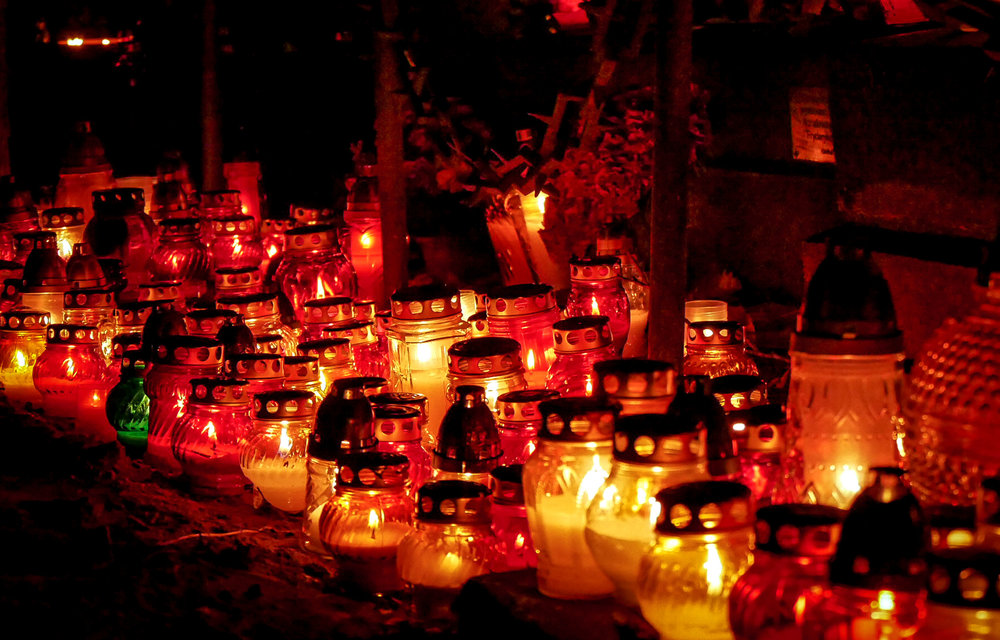 All Saints Day in Warsaw, Poland