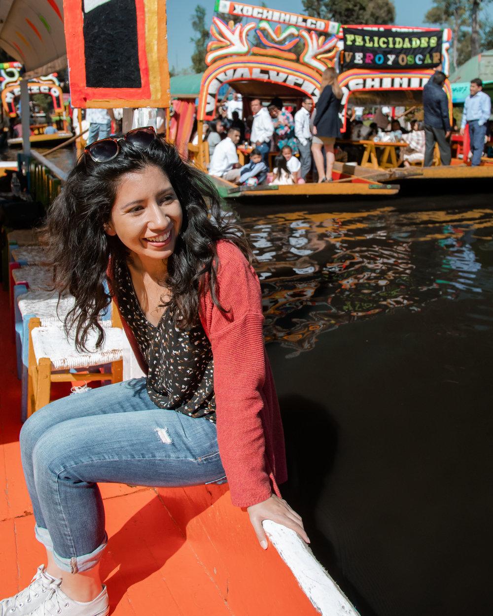 Trajineras in Xochimilco, Mexico
