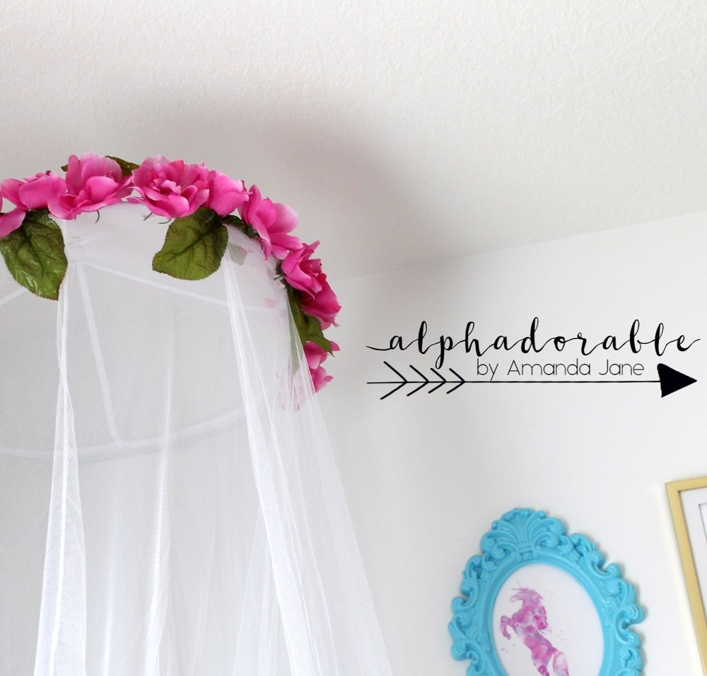 floral mosquito net canopy