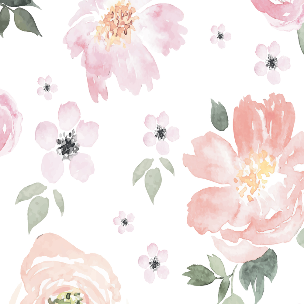 Jolie Watercolor floral wallpaper