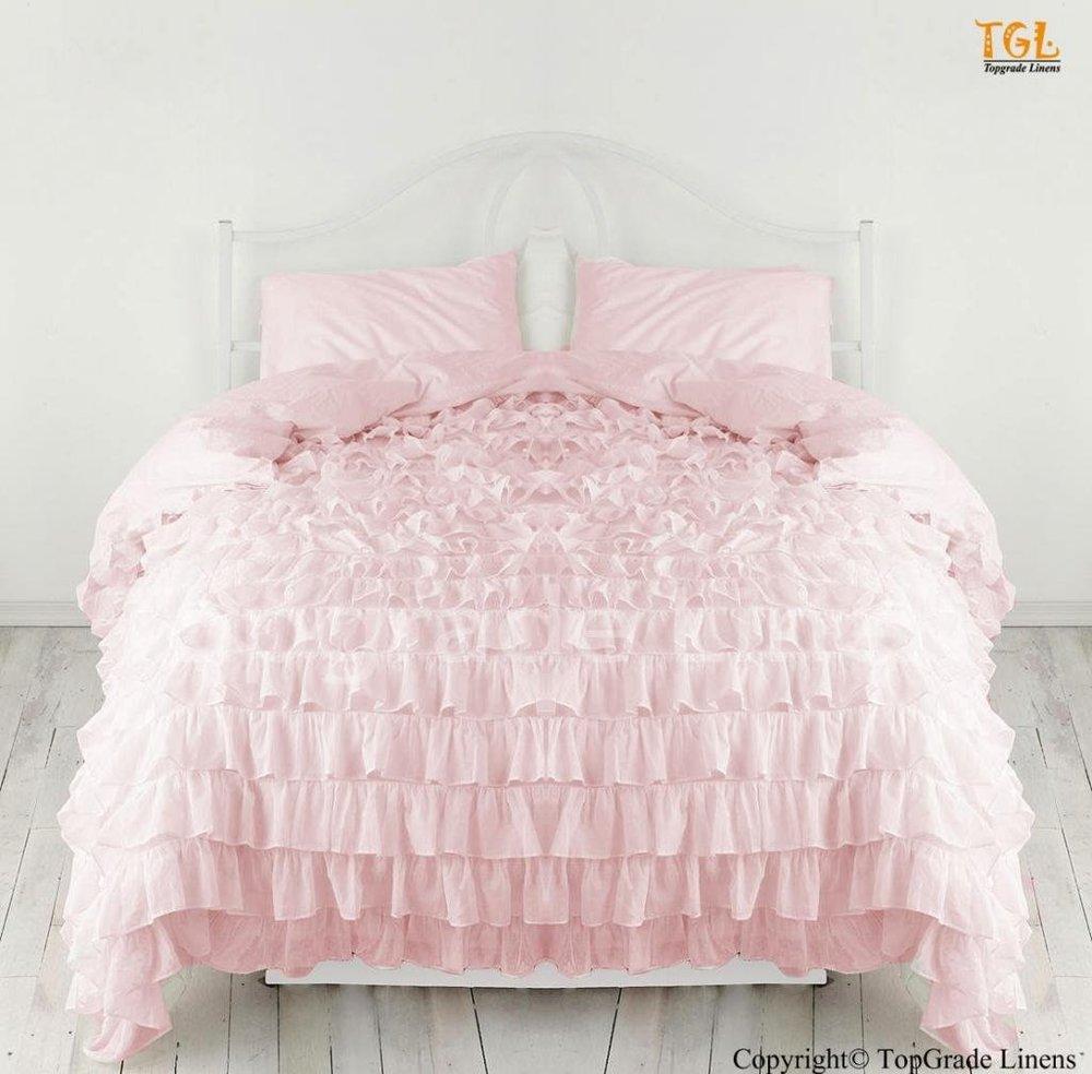 ruffled princess bedding
