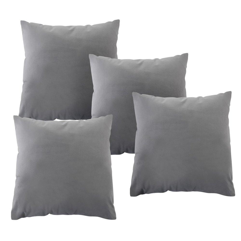 grey velvet cushions