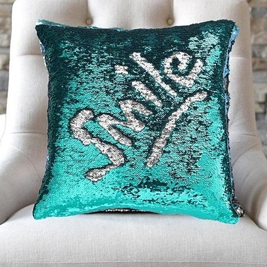mermaid sequin cushion