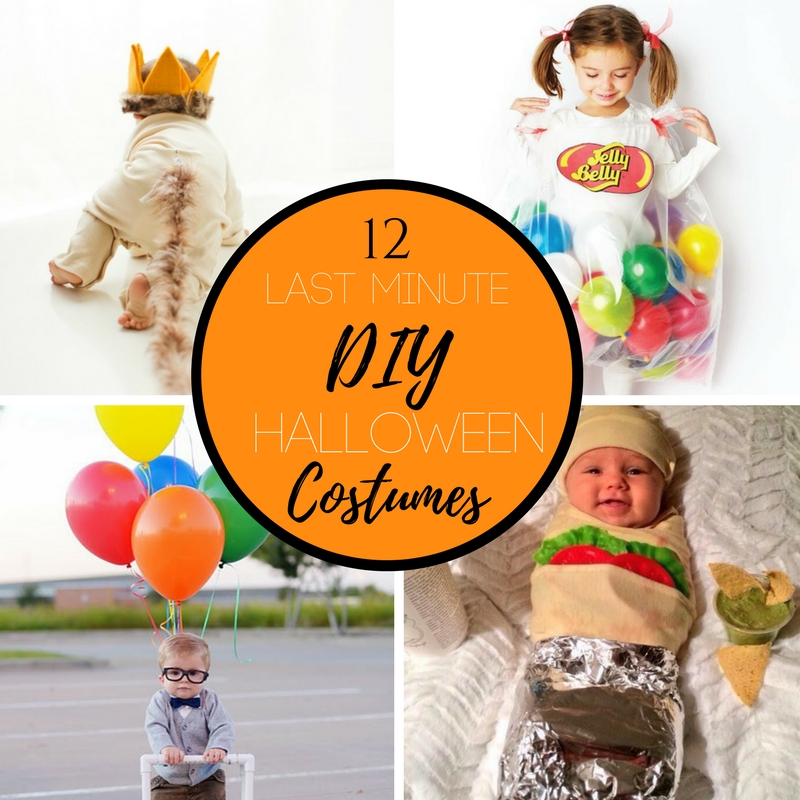 Halloween is just around the corner! Did you wait until the last second to find a costume? Here are 12 ideas that you can put together in a pinch and your little one will look adorable.