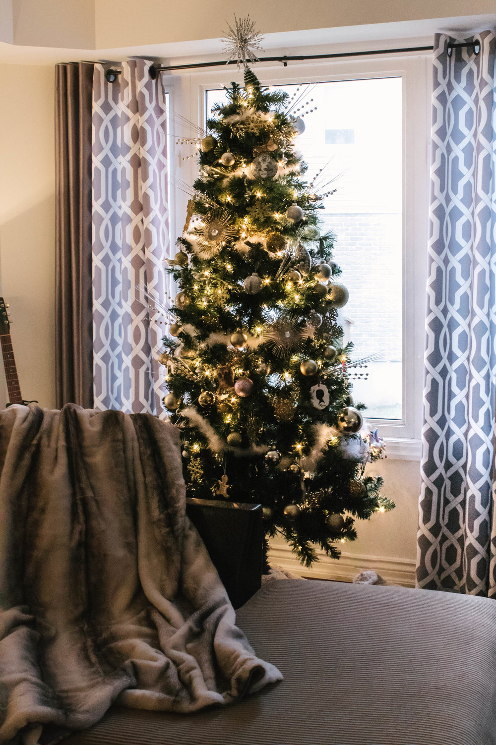 faux fur christmas tree trim
