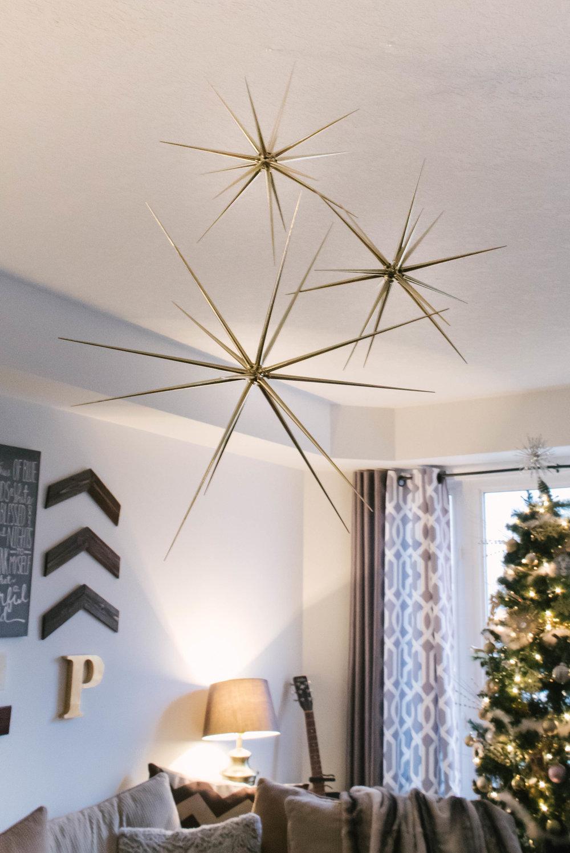 hanging christmas stars