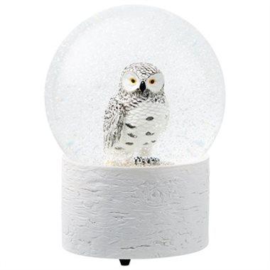 owl snow globe