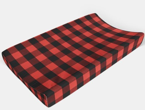 buffalo plaid change table pad