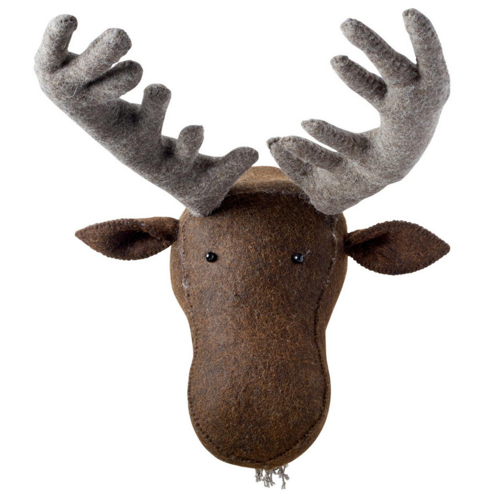 faux taxidermy moose head wall decor
