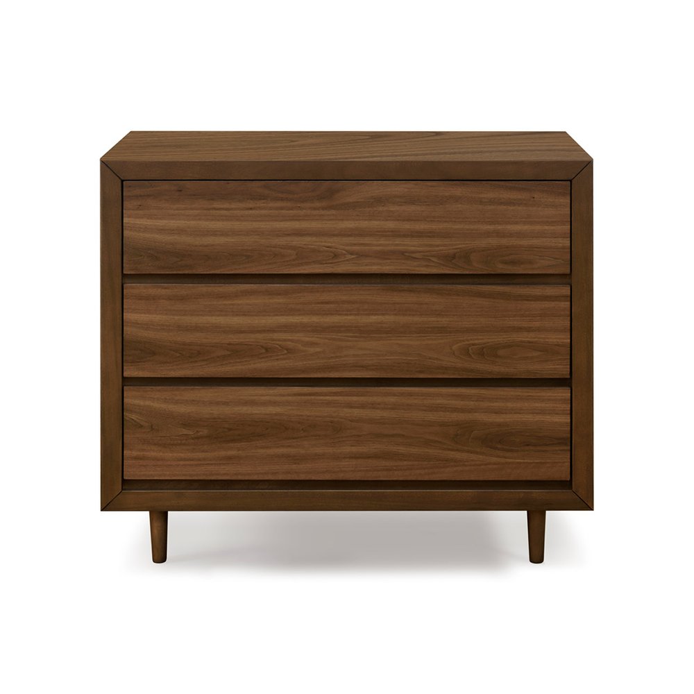 dark wood modern nursery dresser