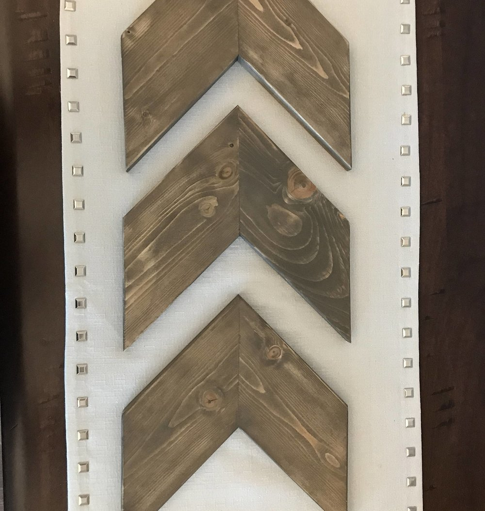 wood chevron arrow wall decor