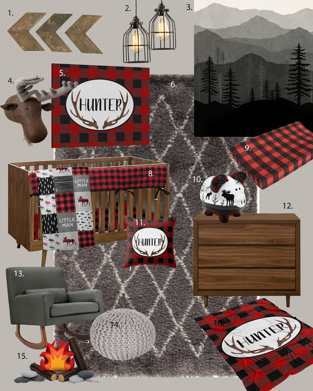 buffalo plaid nursery ideas