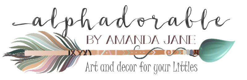 Custom nursery art and decor | Alphadorable