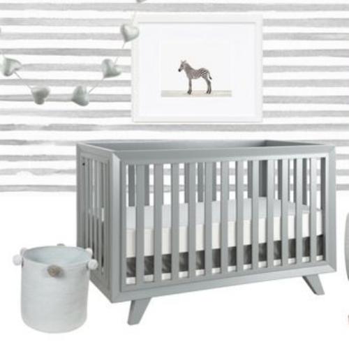 modern grey crib