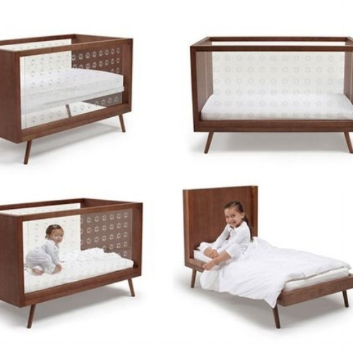 nifty clear panel retro convertible crib