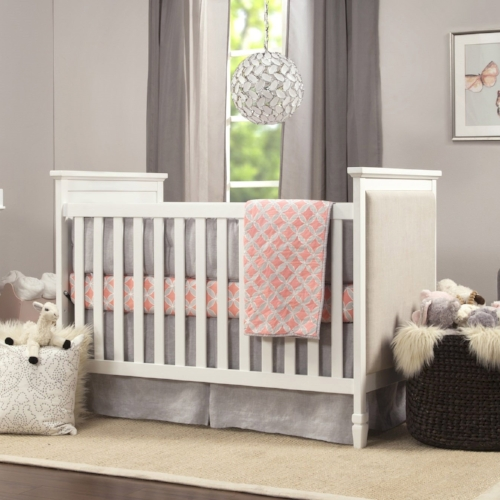 side panel upholstered crib