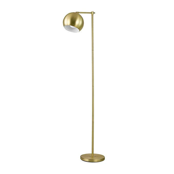 gold globe floor lamp
