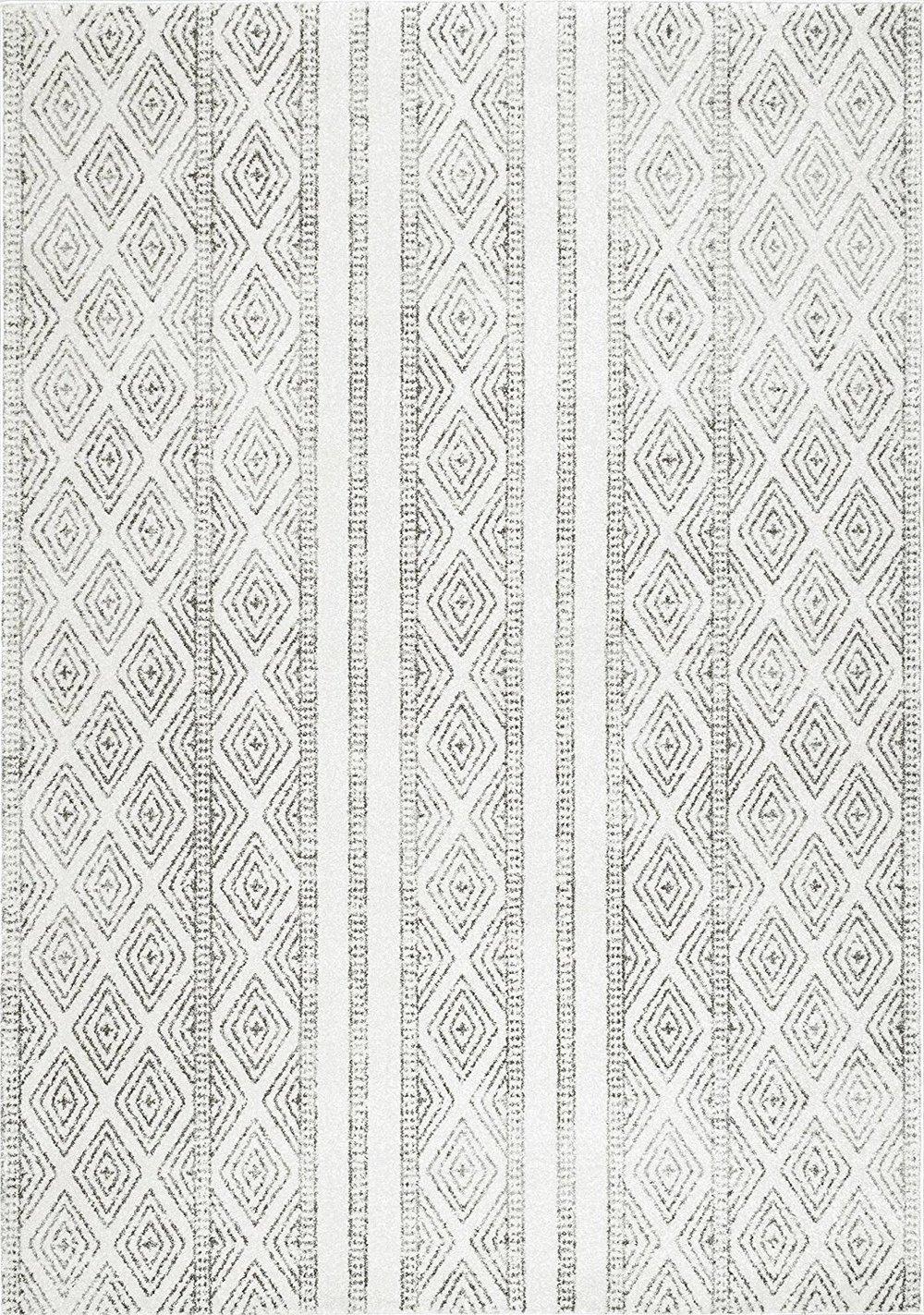 grey white tribal area rug