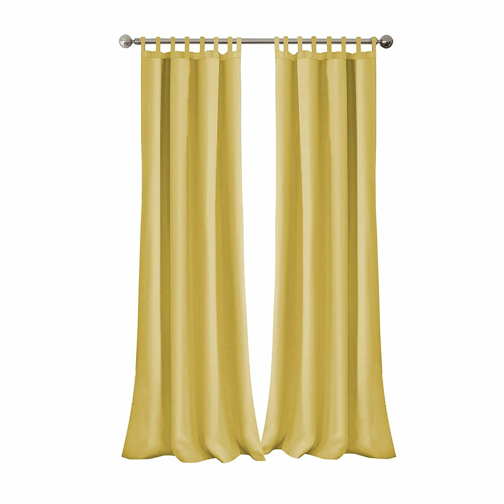 yellow curtain panels