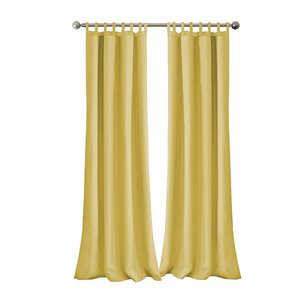 yellow curtain panels
