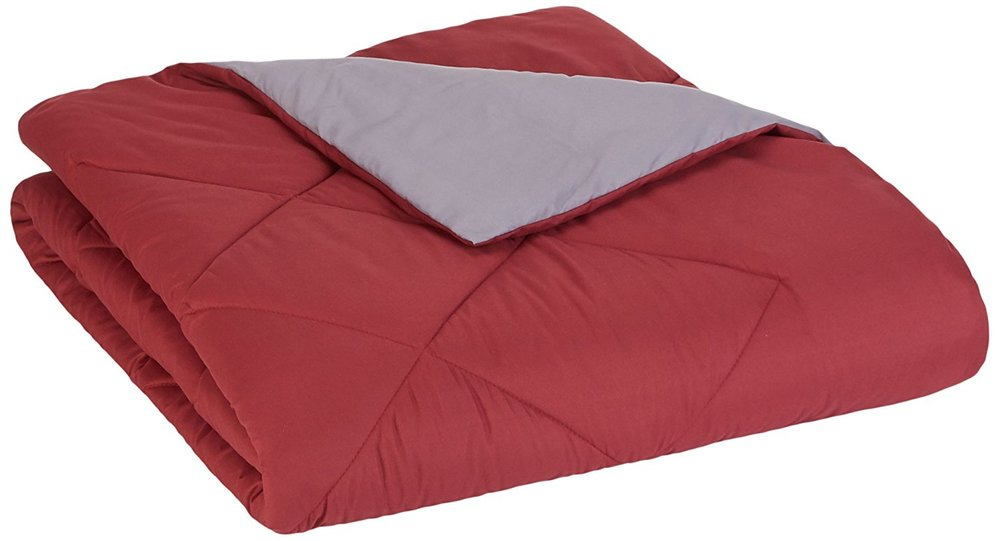 solid red comforter