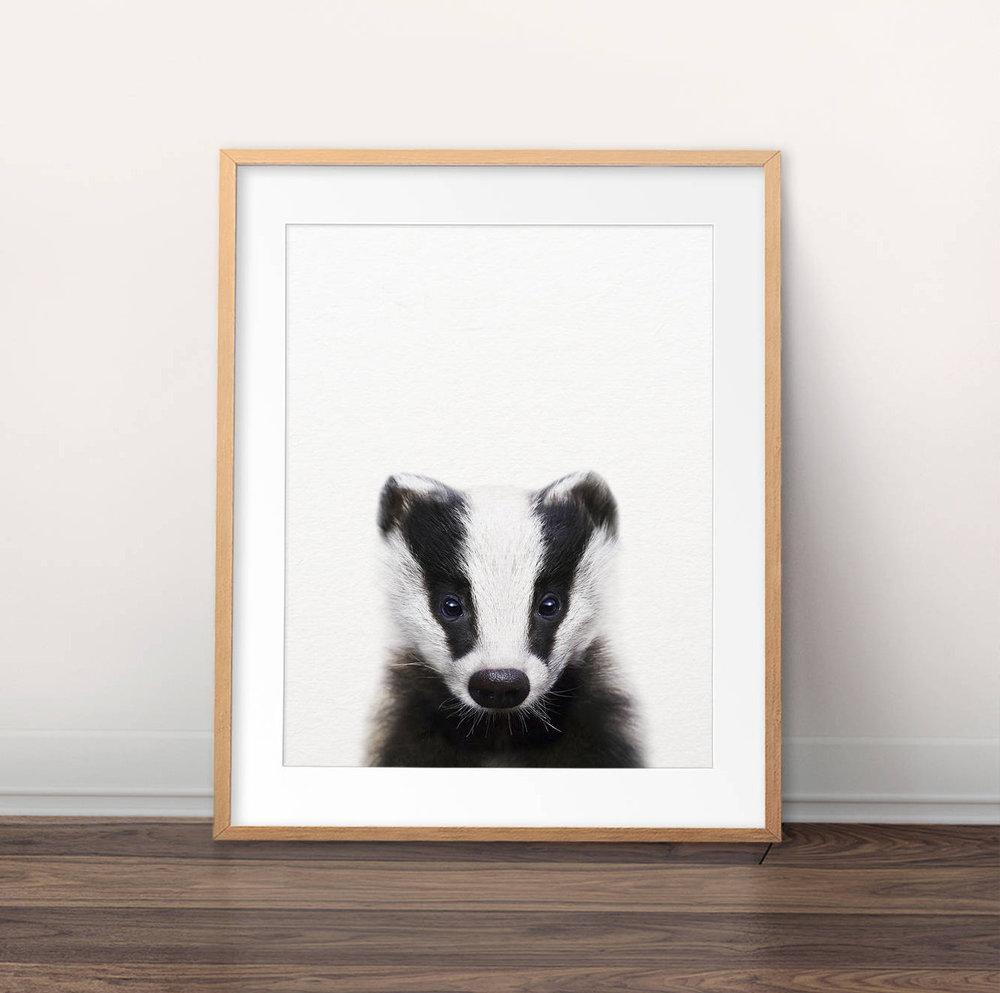 badger nursery print