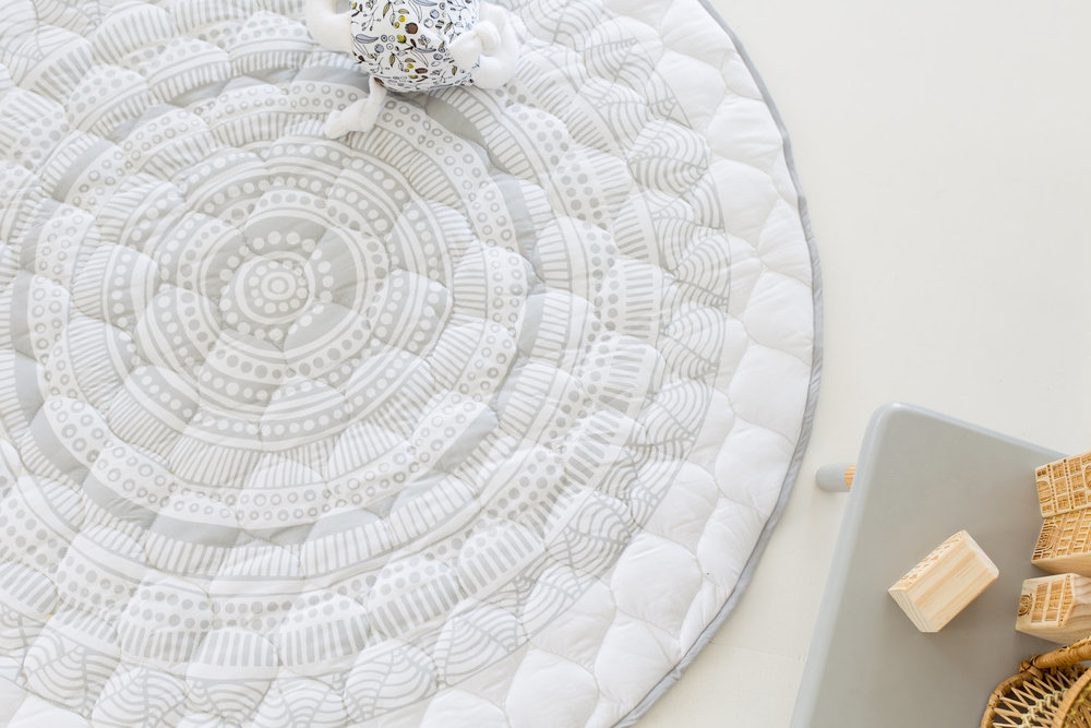 organic quilted play mat