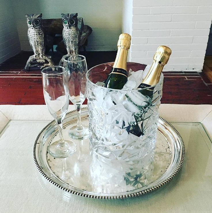 THE ANYTIME VALENTINE $95 - Includes a 375ml bottle of Moet Chandon, bouquet of fresh flowers, and package of Emmy's organics coconut macaroons.
