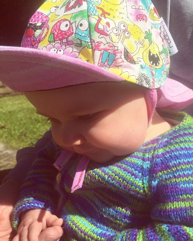 Lil Rippers Legionnaires 🤘🏼💞 That springtime suns got a bite, and it gonna be another scorching hot summer! Keep those little rippers covered up! Niece pictured is 5mths, cap measures 45-50cm, straps optional. Website will be refreshed shortly! #kidsride #kidscaps #kidscycle #infantcap  #littlerippers #lilrippers #striderkids #radkids #hipsterkids #cyclingcap #nzmade #nzbrandrepfeature #nzbrand #mondayroots #boutique #bicyclelifestyle #hipsterparents #mostermash #sunsmart #slipslopslap #nz