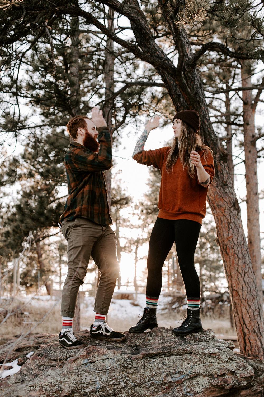 Heather & Joshua Colorado Couples Engagement Mountain Outdoor Session-100.jpg