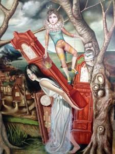 """Prisoners of Time"" Oil on Canvas 47.5"" x 71.5"" Luis Enrique Toledo del Rio"