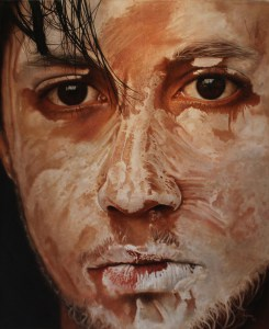 """Auto Retrato"" Mixed Media on Canvas   47"" x 57"" Darian Rodriguez Mederos"