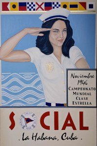 """SOCIAL : Habana Yacht Club""Mixed Media on Canvas     42"" x 64"" Andres Conde"
