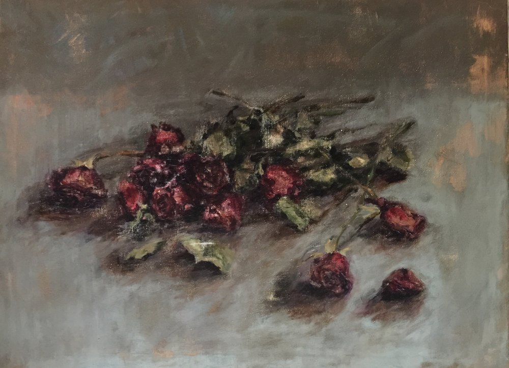 Study of Dried Roses